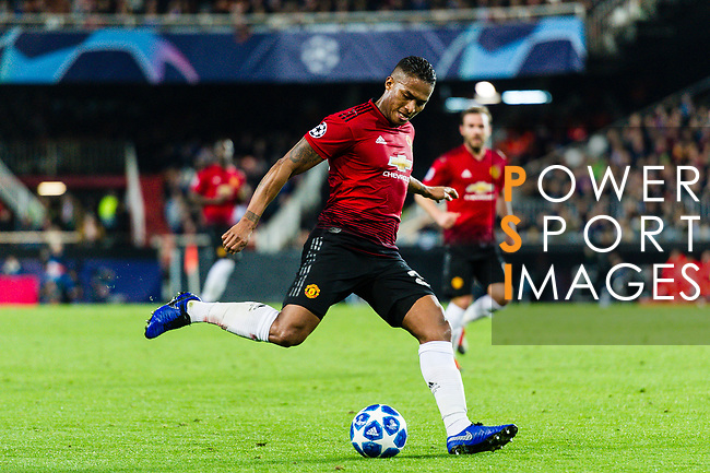 Antonio Valencia of Manchester United in action during the UEFA Champions League 2018-19 match between Valencia CF and Manchester United at Estadio de Mestalla on December 12 2018 in Valencia, Spain. Photo by Maria Jose Segovia Carmona / Power Sport Images