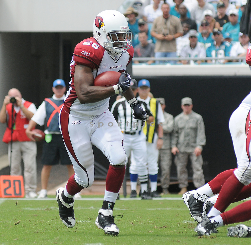 CHRIS WELLS,of the Arizona Cardinals , in action during the Cardinals game against the Jacksonville Jaguars on September 20, 2009 Jacksonville, FL.  The Cardinals beat the Jaguars 31-17.