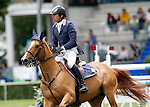 Portugal's jockey Filipe Malta da Costa with the horse Joyau du Manoir during 102 International Show Jumping Horse Riding, King's College Trophy. May, 20, 2012. (ALTERPHOTOS/Acero)