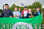 Pupils at Douglas National School celebrating their 5th green flag with Principal Dolores Johnston green co-ordinator at the school. .