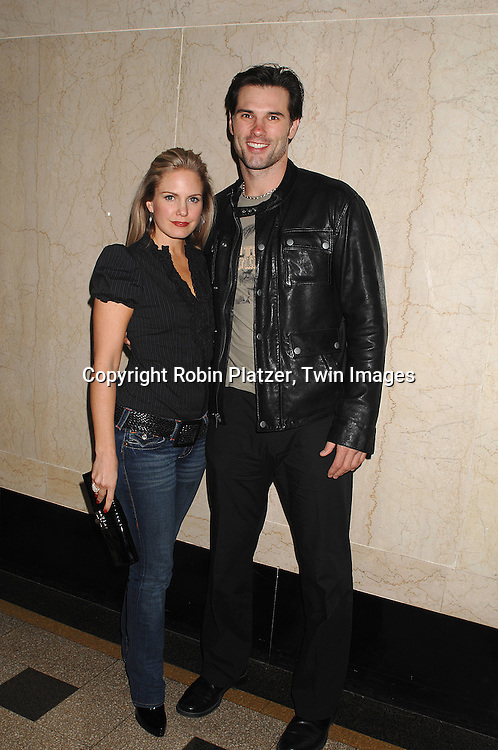 Terri Colombino and Austin Peck..at The 7th Annual WorkShop Theatre Compnay Benefit ..on October 29, 2007 at The Zipper Factory Theatre in New York. ..Ellen Dolan and Bill Tatum hosted The Red to Black ..Cabaret....Robin Platzer, Twin Images....212-935-0770