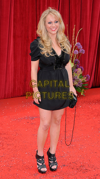SOPHIE ABELSON.The British Soap Awards 2011, Granada TV Studios, Manchester, England, UK, MaY 14th 2011..arrivals full length black dress sandals clutch bag .CAP/CAN.©Can Nguyen/Capital Pictures.