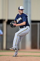Milwaukee Brewers pitcher Kaleb Earls (60) during an Instructional League game against the Cincinnati Reds on October 6, 2014 at Maryvale Baseball Park Training Complex in Phoenix, Arizona.  (Mike Janes/Four Seam Images)