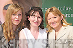SUNSHINE: Niamh and Marina Sheehy and Jacinta Bourke (Tralee) enjoying the Kerry Homes and Garden Show at the Dan Spring Road, Tralee, on Saturday..