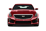 Car photography straight front view of a 2019 Cadillac CTS-V - 4 Door Sedan Front View