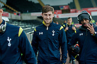 Sunday  14th   December 2014 <br /> Pictured: Former Swansea player Ben Davies of Tottenham Hotspur   arriving at the Liberty Stadium <br /> Re: Barclays Premier League Swansea City v Tottenham Hotspur  at the Liberty Stadium, Swansea, Wales,UK