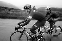 Mike Cuming (GBR) & Iljo Keisse (BEL) biting through the storm<br /> <br /> 2013 Tour of Britain<br /> stage 5: Machynlleth to Caerphilly (177km)