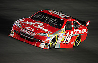 Oct. 15, 2009; Concord, NC, USA; NASCAR Sprint Cup Series driver Tony Stewart during qualifying for the Banking 500 at Lowes Motor Speedway. Mandatory Credit: Mark J. Rebilas-