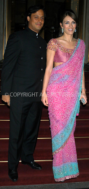 WWW.ACEPIXS.COM *** NO U.K. NEWSPAPERS SALES ***....NEW YORK, APRIL 20, 2005....Elizabeth Hurley and boyfriend Arun Nayar head out for an evening on the town.....Please byline: R. BOCKLET-ACE PICTURES.   ..  ***  ..Ace Pictures, Inc:  ..Craig Ashby (212) 243-8787..e-mail: picturedesk@acepixs.com..web: http://www.acepixs.com