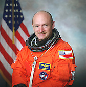 NASA astronaut Mark Kelly, STS-134 commander, and STS-108 pilot official portrait taken in 2001.  Kelly is the husband of United States Representative Gabrielle Giffords (Democrat of Arizona), who was shot in Arizona on Saturday, January 8, 2011..Credit: NASA via CNP