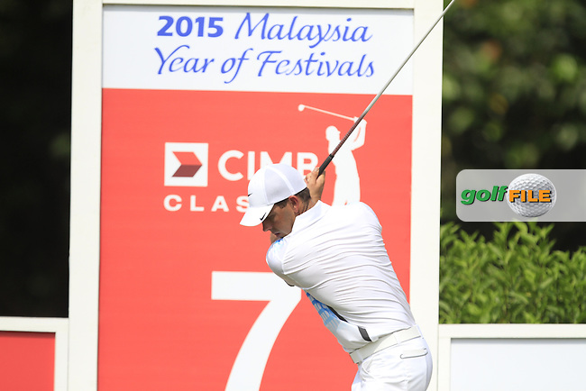 Charl Schwartzel (RSA) on the 7th tee during Round 4 of the CIMB Classic in the Kuala Lumpur Golf &amp; Country Club on Sunday 2nd November 2014.<br /> Picture:  Thos Caffrey / www.golffile.ie