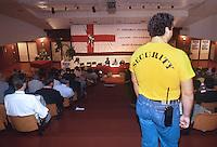 security della Lega Nord ad un comizio