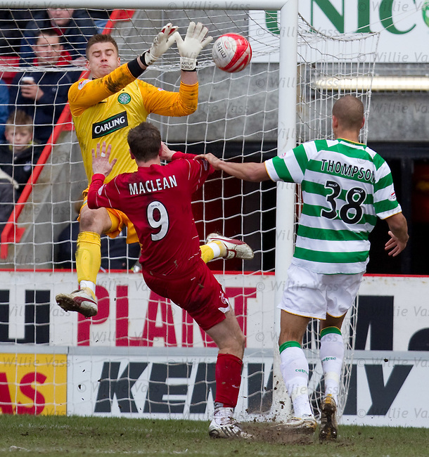 Steven MacLean goes in on Artur Boruc