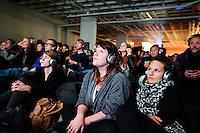 Utrecht, 3 oktober 2013<br /> Nederlands Film Festival 2013<br /> Publiek in de Garage Bioscoop<br /> Vertoning De Ontmaagding van Eva End in parkeergarage Moreelsepark Hoog Catharijne<br /> Foto Felix Kalkman