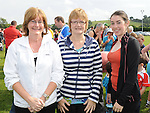 Olivia Lennon, Olive Caraher and Anita Lennon who took part in Tiarnan's fun run at Hunterstown GFC. Photo: Colin Bell/pressphotos.ie