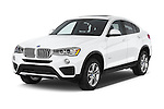 2017 BMW X4 xDrive28i 5 Door SUV Angular Front stock photos of front three quarter view
