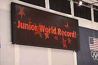 SPEEDSKATING: SALT LAKE CITY: 06-12-2017, Utah Olympic Oval, ISU World Cup, training, Allan Dahl Johansson (NOR), Junior World Record 3000m, 3.41,19, photo Martin de Jong