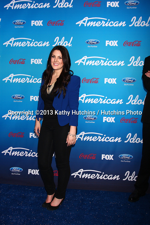 "LOS ANGELES - MAR 7:  Kree Harrison arrives at the 2013 ""American Idol"" Finalists Party at the The Grove on March 7, 2013 in Los Angeles, CA"