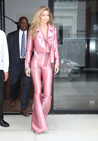 NEW YORK, NY - JUNE 27: Gigi Hadid seen leaving her building to attend The Vogue Eyewear Show in New York City on June 27, 2017. Credit: RW/MediaPunch