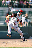 June 15th 2008:  Pitcher Cody Crowell of the Lansing Lugnuts, Class-A affiliate of the Toronto Blue Jays, during a game at Dow Diamond in Midland, MI.  Photo by:  Mike Janes/Four Seam Images