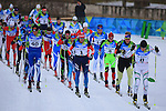 Students compete during the cross country Men's Relay 4 x 10 km event as part of the Winter Universiade Trentino 2013 on 19/12/2013 in Lago Di Tesero, Italy.<br /> <br /> &copy; Pierre Teyssot - www.pierreteyssot.com