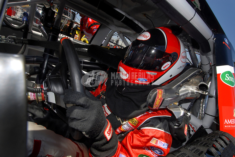Apr 20, 2006; Phoenix, AZ, USA; Nascar Busch Grand National racer Carl Edwards driver of the (60) Henkel Ford during practice for the Bashas' Supermarkets 200 at Phoenix International Raceway. Mandatory Credit: Mark J. Rebilas-US PRESSWIRE Copyright © 2006 Mark J. Rebilas..