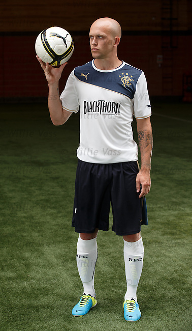 Nicky Law in the away kit