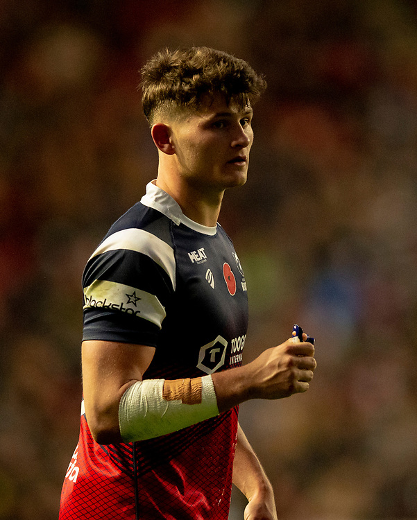 Bristol Bears' Piers O'Conor<br /> <br /> Photographer Bob Bradford/CameraSport<br /> <br /> Gallagher Premiership Round 7 - Bristol Bears v Exeter Chiefs - Sunday 18th November 2018 - Ashton Gate - Bristol<br /> <br /> World Copyright © 2018 CameraSport. All rights reserved. 43 Linden Ave. Countesthorpe. Leicester. England. LE8 5PG - Tel: +44 (0) 116 277 4147 - admin@camerasport.com - www.camerasport.com
