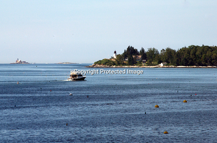 The Cuckolds and Burnt Island Light, Boothbay Harbor