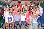 KEY TO THE DOOR: Laura Locke, Shanakill, Tralee (seated 4th left) having a great time celebrating her 21st birthday with family and friends at her home on Saturday.