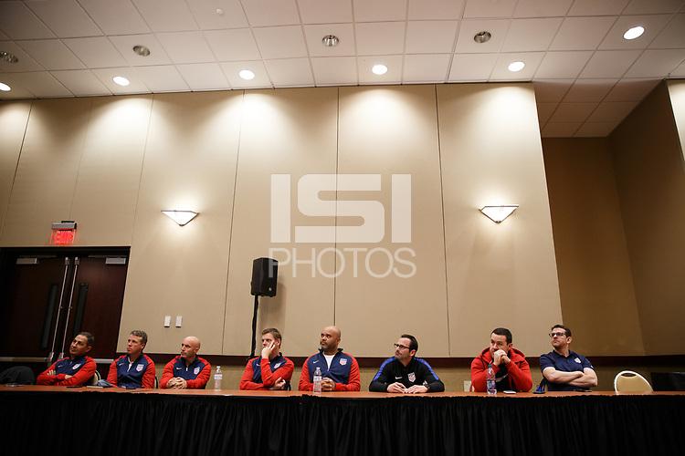 Bradenton, FL : US Soccer holds a presentation for athletes in Bradenton, Fla., on January 4, 2018. (Photo by Casey Brooke Lawson)