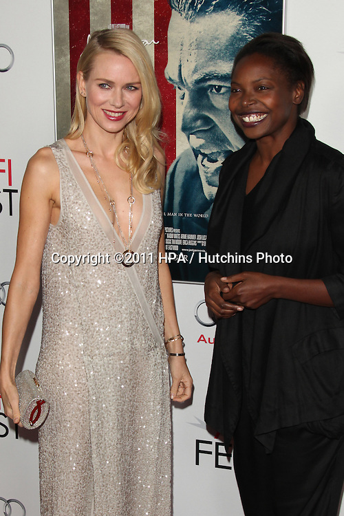 """LOS ANGELES - NOV 3:  Naomi Watts, Jacqueline Lyanga arrives at the AFI FEST 2011 Presented By Audi - """"J. Edgar"""" Opening Night Gala at Grauman's Chinese Theater on November 3, 2011 in Los Angeles, CA"""