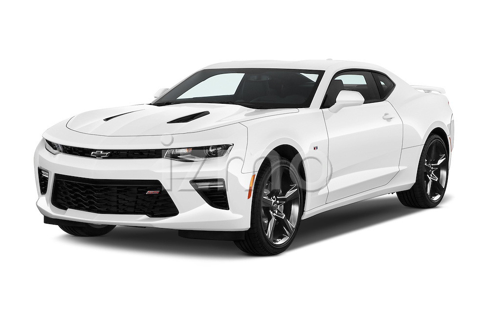 2018 Chevrolet Camaro 2SS 2 Door Coupe Angular Front stock photos of front three quarter view