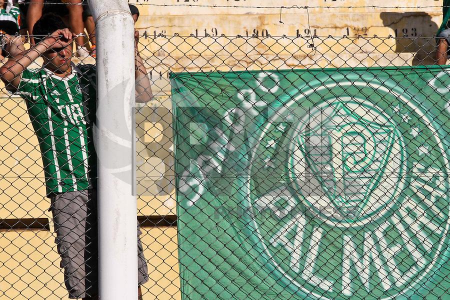 ATENÇÃO EDITOR: FOTO EMBARGADA PARA VEÍCULOS INTERNACIONAIS PRESIDENTE PRUDENTE 11 NOVEMBRO 2012 - CAMPEONATO BRASILEIRO - PALMEIRAS x FLUMINENSE - Torcedors  do Palmeiras durante da partida Palmeiras x Fluminense válido pela 35º rodada do Campeonato Brasileiro no Estádio Eduardo José Farah. Apelido, (Prudentão), no interior paulista na tarde deste domingo (11).(FOTO: ALE VIANNA -BRAZIL PHOTO PRESS)