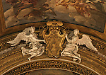 Angels on church ceiling. Rome, Italy,