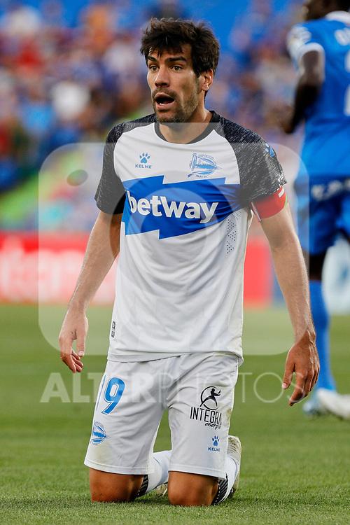 Manu Garcia of Deportivo Alaves during La Liga match between Getafe CF and Deportivo Alaves at Colisseum Alfonso Perez in Getafe, Spain. August 31, 2019. (ALTERPHOTOS/A. Perez Meca)