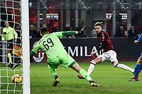 Samuel Castillejo of AC Milan scores goal of 3-0 <br /> Milano 22-02-2019 Stadio Giuseppe Meazza in an Siro Football Serie A 2018/2019 AC Milan - Empoli <br /> Foto Image Sport / Insidefoto