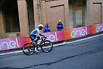 Awet Gebremedhin Andemeskel (SWE) Israel Cycling Academy on the San Luca climb during Stage 1 of the 2019 Giro d'Italia, an individual time trial running 8km from Bologna to the Sanctuary of San Luca, Bologna, Italy. 11th May 2019.<br /> Picture: Eoin Clarke | Cyclefile<br /> <br /> All photos usage must carry mandatory copyright credit (© Cyclefile | Eoin Clarke)