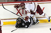 Kasper Björkqvist (PC - 20), Mike Booth (BC - 12) - The Boston College Eagles defeated the visiting Providence College Friars 3-1 on Friday, October 28, 2016, at Kelley Rink in Conte Forum in Chestnut Hill, Massachusetts.The Boston College Eagles defeated the visiting Providence College Friars 3-1 on Friday, October 28, 2016, at Kelley Rink in Conte Forum in Chestnut Hill, Massachusetts.
