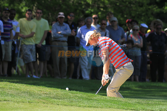 Chris Wood playing his third on the fourth.during round three of the BMW PGA championship 2010 at Wentworth golf club, Surrey England..Picture Fran Caffrey/Newsfile.ie