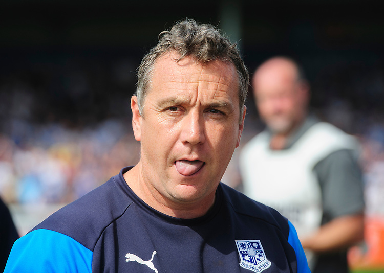 Tranmere Rovers manager Micky Mellon<br /> <br /> Photographer Chris Vaughan/CameraSport<br /> <br /> The EFL Sky Bet League Two - Lincoln City v Tranmere Rovers - Monday 22nd April 2019 - Sincil Bank - Lincoln<br /> <br /> World Copyright © 2019 CameraSport. All rights reserved. 43 Linden Ave. Countesthorpe. Leicester. England. LE8 5PG - Tel: +44 (0) 116 277 4147 - admin@camerasport.com - www.camerasport.com