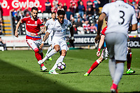 Sunday April 02 2017 <br /> Pictured: Leroy Fer of Swansea City in action <br /> Re: Premier League match between Swansea City and Middlesbrough at The Liberty Stadium, Swansea, Wales, UK. SUnday 02 April 2017