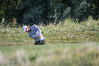 Thomas Detry (BEL) in action on the 2nd hole during the final round at the KLM Open, The International, Amsterdam, Badhoevedorp, Netherlands. 15/09/19.<br /> Picture Stefano Di Maria / Golffile.ie<br /> <br /> All photo usage must carry mandatory copyright credit (© Golffile | Stefano Di Maria)