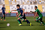 Haraguchi Genki of Japan (L) in action during the AFC Asian Cup UAE 2019 Group F match between Japan (JPN) and Turkmenistan (TKM) at Al Nahyan Stadium on 09 January 2019 in Abu Dhabi, United Arab Emirates. Photo by Marcio Rodrigo Machado / Power Sport Images