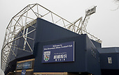 2nd December 2017, The Hawthorns, West Bromwich, England; EPL Premier League football, West Bromwich Albion versus Crystal Palace; General view of The Hawthornes stadium with the club signage on display