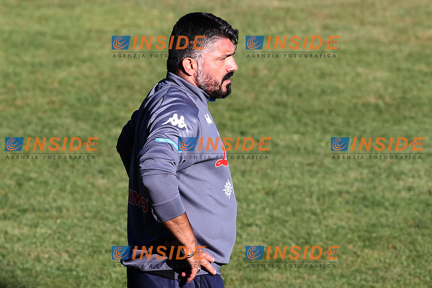 Gennaro Gattuso coach of SSC Napoli looks on<br /> during the friendly football match between SSC Napoli and SS Teramo Calcio 1913 at stadio Patini in Castel di Sangro, Italy, September 04, 2020. <br /> Photo Cesare Purini / Insidefoto