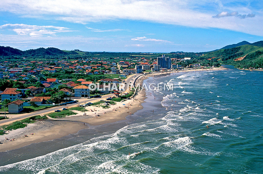 Aérea da Praia dos Navegantes em Santa Catarina. 1995. Foto de Juca Martins.