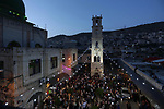 Palestinians celebrate the first night ahead of the holy fasting month of Ramadan in the West Bank city of Nablus, May 5, 2019. Muslims around the world celebrate the holy month of Ramadan by praying during the night time and abstaining from eating, drinking, and sexual acts during the period between sunrise and sunset. Photo by Shadi Jarar'ah