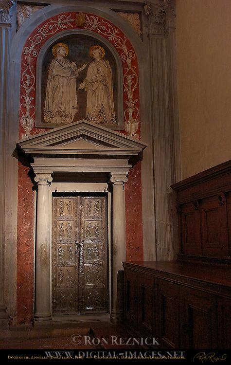 Donatello Doors Old Sacristy San Lorenzo 5263 VLG.jpg | Digital ...