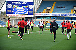 The Sheffield United team warm-up before the start of the championship match at The Den Stadium, Millwall. Picture date 2nd December 2017. Picture credit should read: Robin Parker/Sportimage